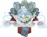 Christmas Owls Pop-Up Greeting Card Second Nature 3D Pop Up Cards