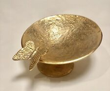 Nima Oberoi Lunares Nest Asymmetrical Gold Butterfly Display Centerpiece Bowl