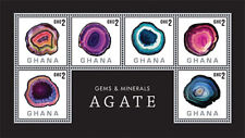 Ghana - Gems and Minerals Stamp- Sheet of 6 MNH