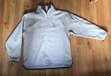 Vintage Nike Spellout 1/4 Zip Fleece Sweatshirt Large Very Good Condition Grey
