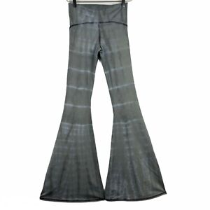 Free People Movement Women's Gray Tie-Dye Flare Yoga Pants Style# GLP-8242