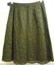 Banana Republic Brown Eyelet Cotton Skirt Size 6 A Line Side Zipper