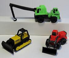LOOSE LOT of 3 McDonald's 1994 TONKA TRUCK Crane Bulldozer Loader NO DUPES