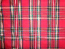Holiday Stewart Tartan Plaid Red Tailored Euro Pillow Sham - Reversible