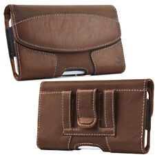 Cell Phones Case Horizontal Leather Carrying Pouch Cover with Belt Clip Holster