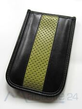 BeyzaCases iPod Touch 2nd generazione Road line Slim Case in Pelle Nero-Verde