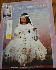 Crochet Motif Fibre Loisirs Créatifs Indien Princesse IV Poupée 1995 14 1/2'