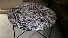 Up-Cycled Industrial/ Loft Design Coffee Table - Black & White