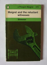GEORGES SIMENON - MAIGRET AND THE RELUCTANT WITNESSES 1963 PAPERBACK - G.C.