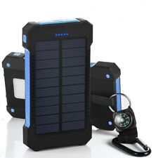 USA Waterproof 300000mAh Solar Power Bank Battery Charger For iPhone Samsung
