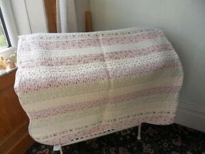 throw blanket Laura Ashley bedspread pinks floral double sided shabby chic retro