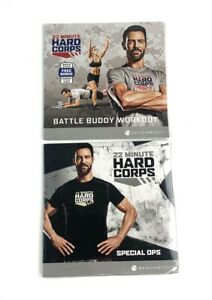 New 2 Lot Special Ops & Battle Buddy Workout Hard Corps 22 Min Tim Horton DVDs