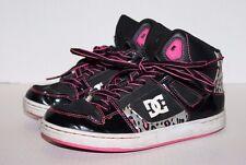 DCSHOECOUSA Black w/Pink Animal Print Hi-Top Youth Skateboarding Shoes Size 4.5
