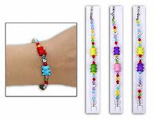 😊 6 x Kinder Armband Bär Gastgeschenk Mitgebsel für Mädchen Kindergeburtstag