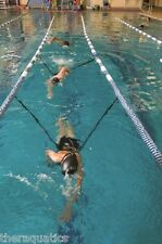 DOUBLE SPRINT LEASH Water Therapy Lane Training Stroke Push Off SWIM POOL 623