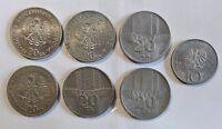 Polen / Polska / Poland - 1974-1976 - 1x10 Zloty + 6x 20 Zloty - vz / xf