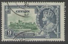 Ceylon SG380 1935 9c SILVER JUBILEE BENE USATO