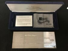 AMEX Traveler's Check $100 Sterling  Silver Plate  Ltd. Edition in velvet case