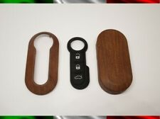 Cover Key Buttons Rubber Case Remote Control Fiat Lancia Shell Effect Wood