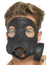 Gas Mask Black Latex Smiffy's Fancy Dress Accessory