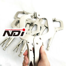 "NDI 4PCS Heavy Duty Steel 11"" C-Clamps Mig Welding Locking Plier Vice Grip N0105"