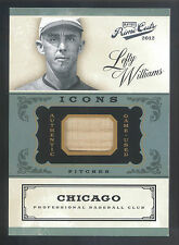 2012 Panini Prime Cuts Icons #37 Lefty Williams Game Used Bat Relic Card #12/99