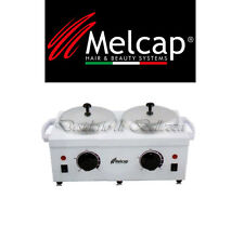 Scaldacera doppio cera barattolo Pro 2 Professionale in acciaio Melcap fornello
