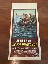 locandina,Acque profonde The Deep Six 1958,Alan Ladd Rudolph Maté Bendix,s/9