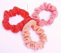 2 Stück große elastische Stoff Haargummis Haarbinder Zopfgummi Haarband lila