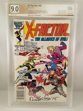 X-FACTOR #5 PGX 9.0 Signed Joe Rubinstein 1st Appearance of APOCALYPSE Like CGC