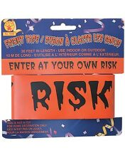 30FT CAUTION HALLOWEEN PARTY IN PROGRESS Halloween Party Tape Decoration 1698