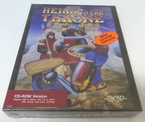 RARE 1993 Big Box ~ Heirs To The Throne ~ Vintage Dos PC Game / CD-Rom Edition !