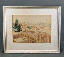 Egypt Cairo Vintage Watercolour Painting