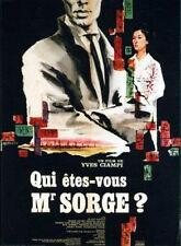 Affiche 60x80cm QUI ETES VOUS MR SORGE 1961 Yves Ciampi - Mario Adorf, Bazil