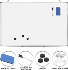 36 x 24 inch Magnetic Whiteboard Wall Hanging Board with Eraser Marker Pen