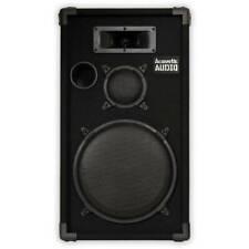 """Acoustic Audio Cr12 Pa Karaoke Dj 12"""" Speaker, 500W, 3 Way"""