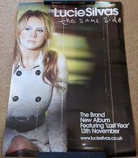 More details for lucy silvas promo album/single poster the same side/last year