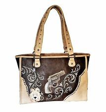 Montana West Dual Sided Concealed Carry Handbag  Western Cowgirl Tote Bag