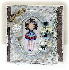 """The Greeting Farm """"Miss Anya Garland"""" 1 Rubber Stamp Size 4""""x6"""" NEW"""