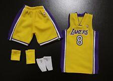 Custom 1/6 kobe bryant lakers jersey 8 NBA TOYs home yellow fit enterbay