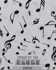 SINGLE FAT QUARTER QUILTING-CRAFT MUSICAL NOTES DESIGN