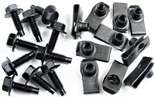 "GM Truck Body Bolts & U-nut Clips- 5/16-18 x 1"" Long- 1/2"" Hex- 20 pcs- #410"