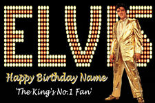 ELVIS Personalised Birthday Card THE KING'S No.1 Fan ANY AGE - ANY NAME (7)