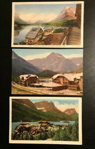 8 post cards from Glacier National Park. Various publishers