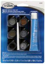 9101 Testors Acrylic Paint Pod Set, Military Colors with Glue and Brush