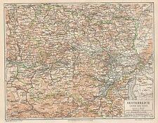 B6066 Austria - Carta geografica antica del 1890 - Old map