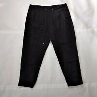 Calvin Klein Jeans Womens Drawstring Snap Up Cropped Capri Pants Size 10