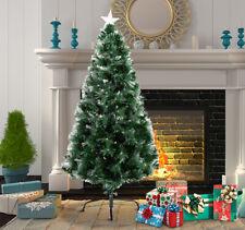 Homcom Árbol de Navidad (66 x 120 cm) Estrella y Fibra Optica de 7 Colores