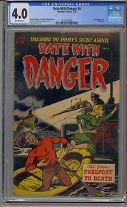 DATE WITH DANGER #6 CGC 4.0 PRE CODE WAR HORROR ATOM BOMY STORY
