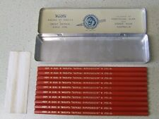 10 Vintage Unsharpened Wolff's ROYAL SOVEREIGN 5151 H Pencils L.I.C.S. in Tin